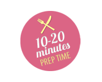 Prep time 10-20 minutes